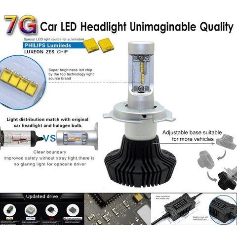 Набор светодиодного головного света UP-7HL-H13W-4000Lm (H13, 4000 лм, холодный белый) Превью 2