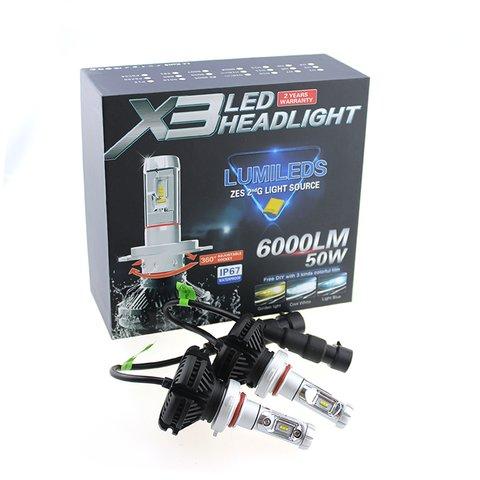 Набор светодиодного головного света UP-X3HL-9006W(HB4) (6000 лм) - Просмотр 3