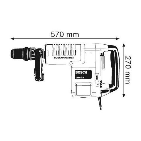 Відбійний молоток Bosch GSH 11 E Прев'ю 2