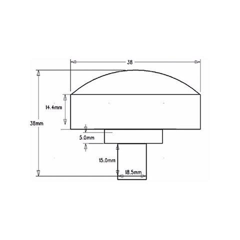 Комплект круглих LED-модулів (повноколірні, 6 світлодіодів SMD5050, 38 мм, IP67, 20шт.) Прев'ю 3